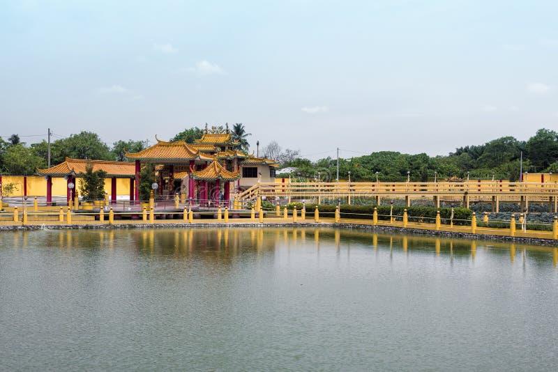 Sedd Hock Yeen, Konfucius tempel, Chemor, Malaysia arkivfoto