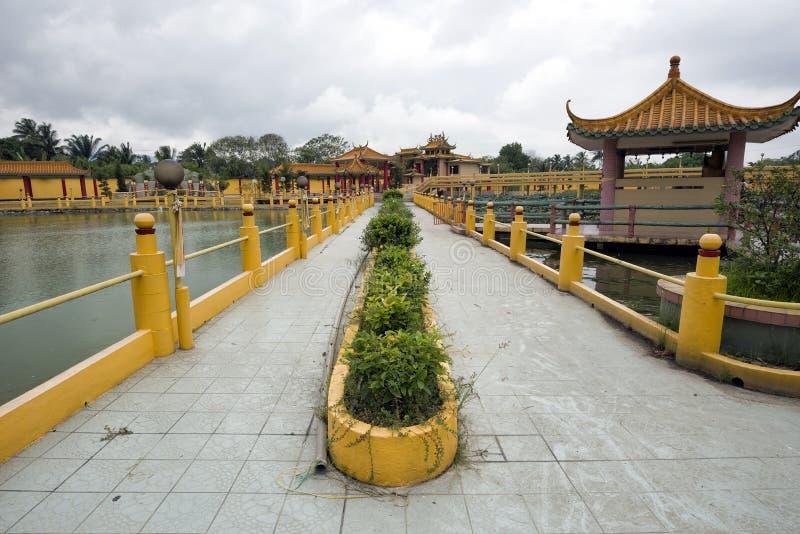 Sedd Hock Yeen, Konfucius tempel, Chemor, Malaysia royaltyfri bild
