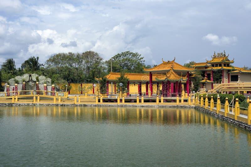 Sedd Hock Yeen, Konfucius tempel, Chemor, Malaysia arkivfoton