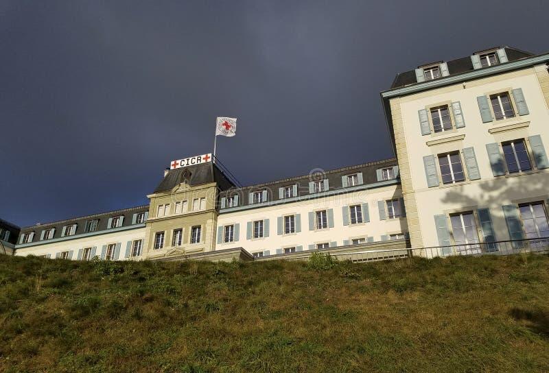 Sede centrale del Comitato internazionale della Croce Rossa fotografia stock libera da diritti