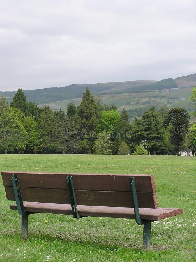 Sede con una vista fotografia stock