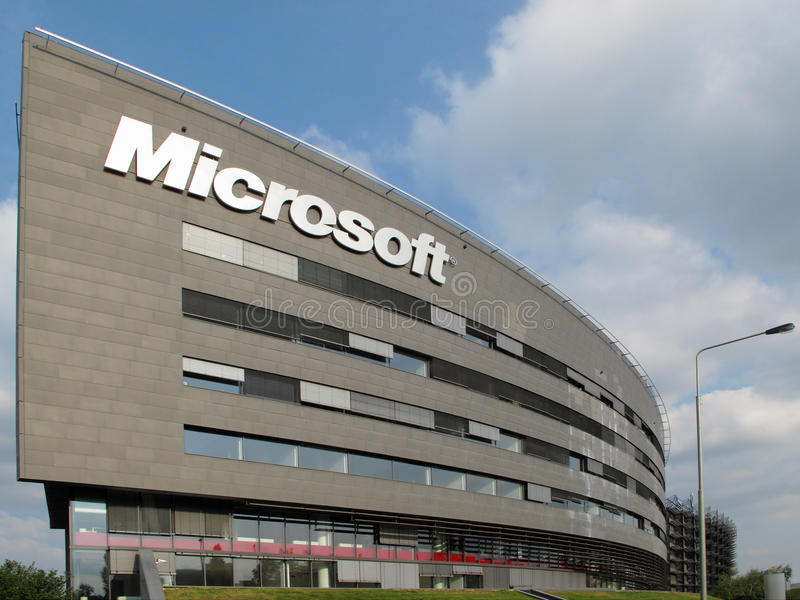 Sede da Microsoft Corporation fotografia de stock royalty free