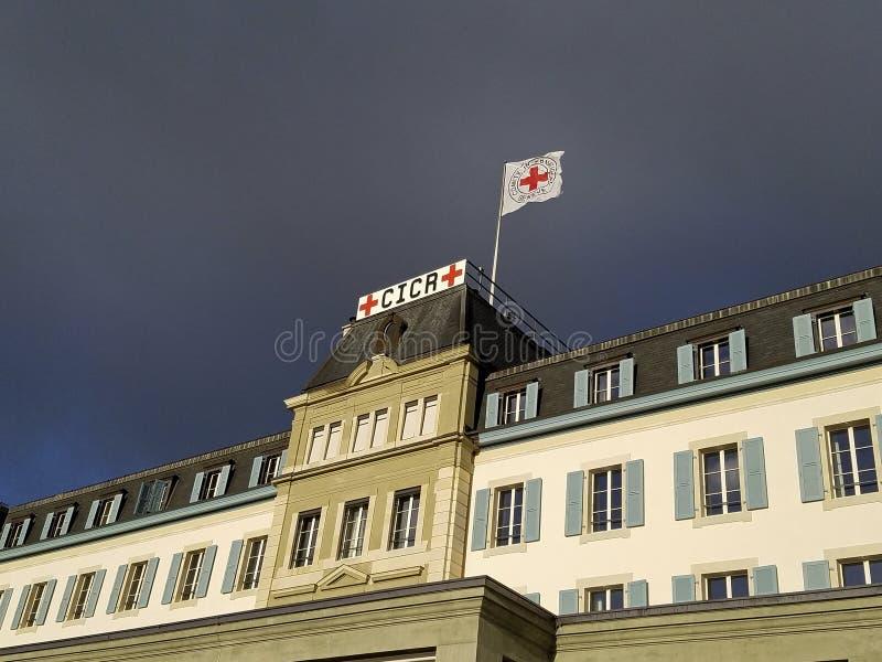 sede del Comitato internazionale della Croce Rossa, Ginevra, Svizzera fotografie stock