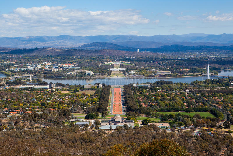 Sede del parlamento a Canberra fotografia stock
