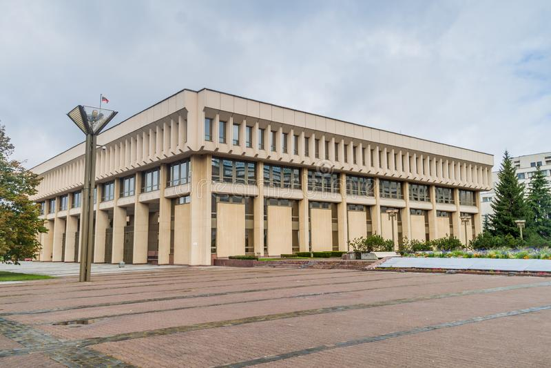 Sede del parlamento a Vilnius, Lithuan fotografie stock