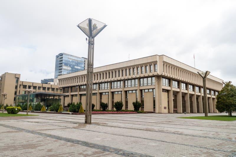 Sede del parlamento a Vilnius, Lithuan fotografia stock libera da diritti