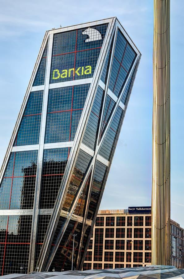 Sede do Bankia, Madrid, Spain fotografia de stock royalty free
