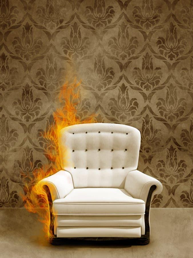 Sede in fiamma illustrazione vettoriale