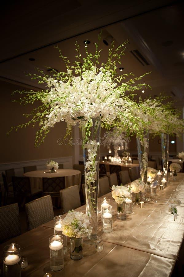 Sede meravigliosamente decorata di nozze immagine stock libera da diritti