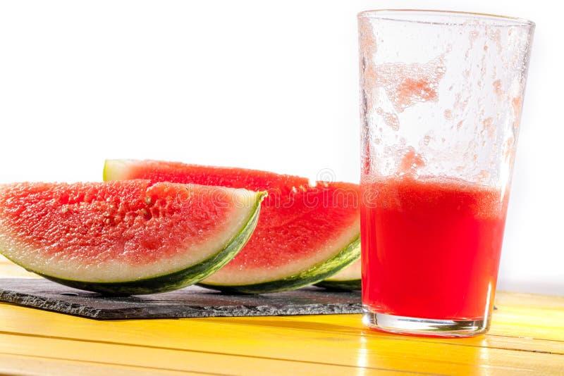 Sede que extingue o suco de fruta saudável do verão Watermel de refrescamento fotos de stock royalty free