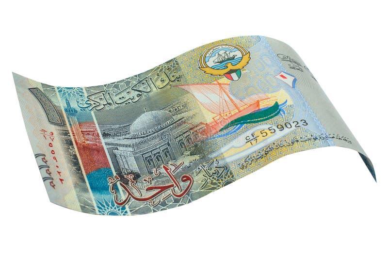 1 sedel för kuwaitisk dinar royaltyfri bild