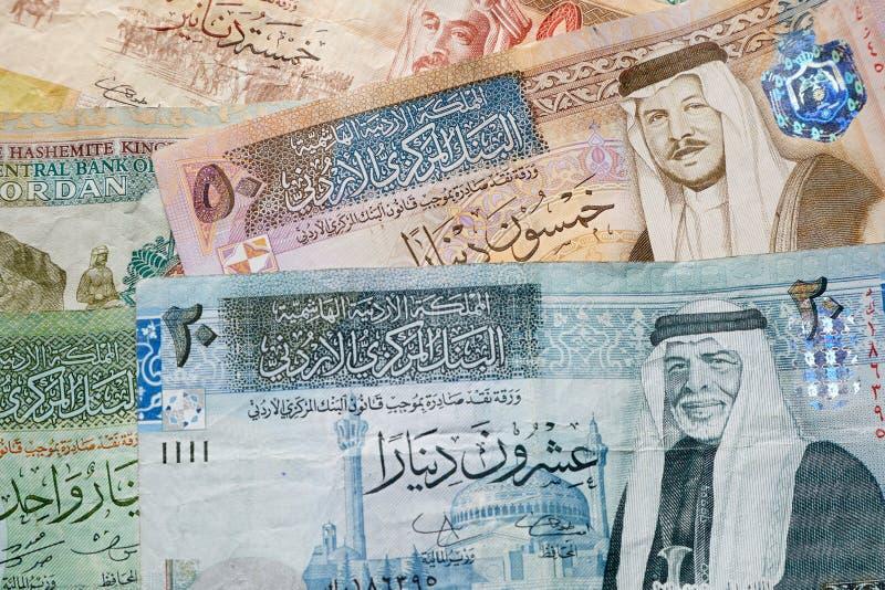 Sedelbakgrund för jordansk dinar fotografering för bildbyråer
