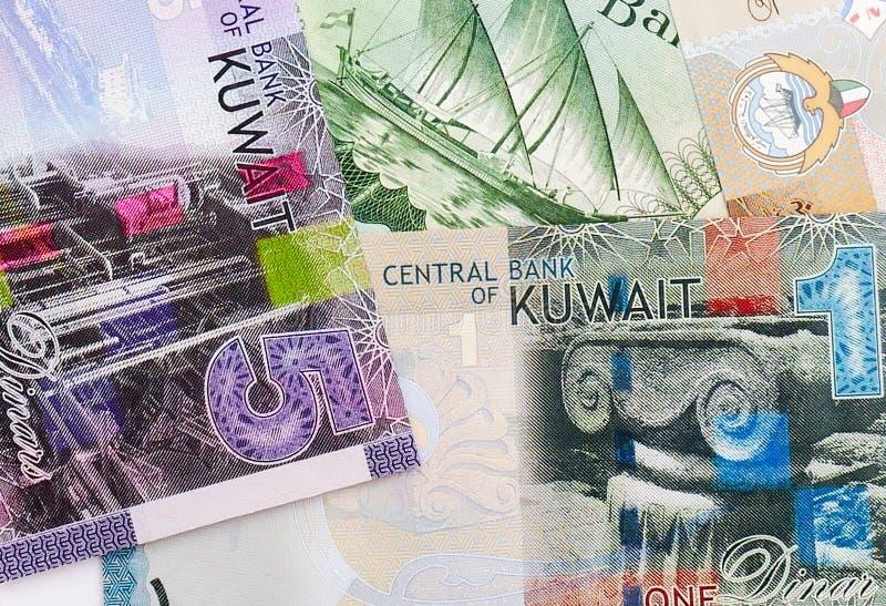 Sedelbakgrund för kuwaitisk dinar arkivbilder