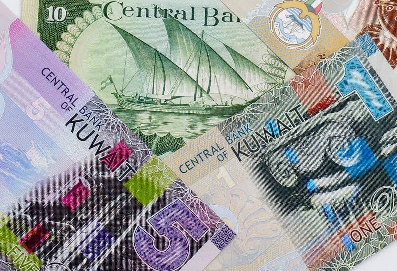Sedelbakgrund för kuwaitisk dinar royaltyfri fotografi