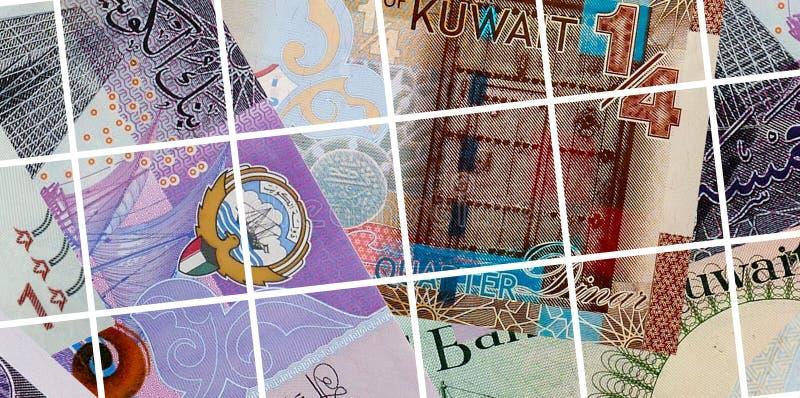Sedelbakgrund för kuwaitisk dinar arkivfoton
