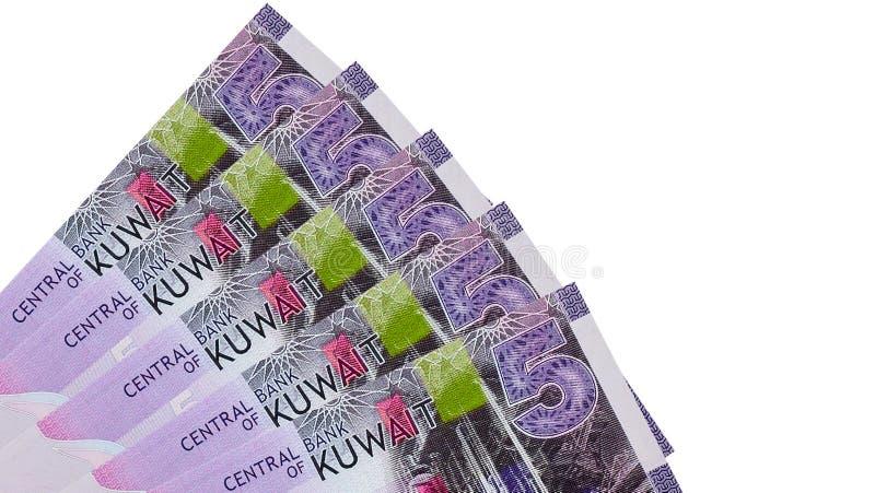 Sedelbakgrund för kuwaitisk dinar royaltyfria foton