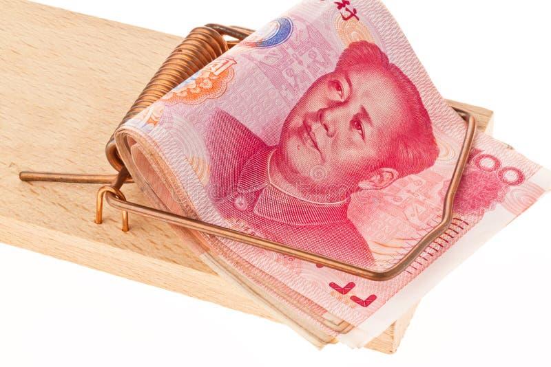 sedelkines yuan royaltyfria foton