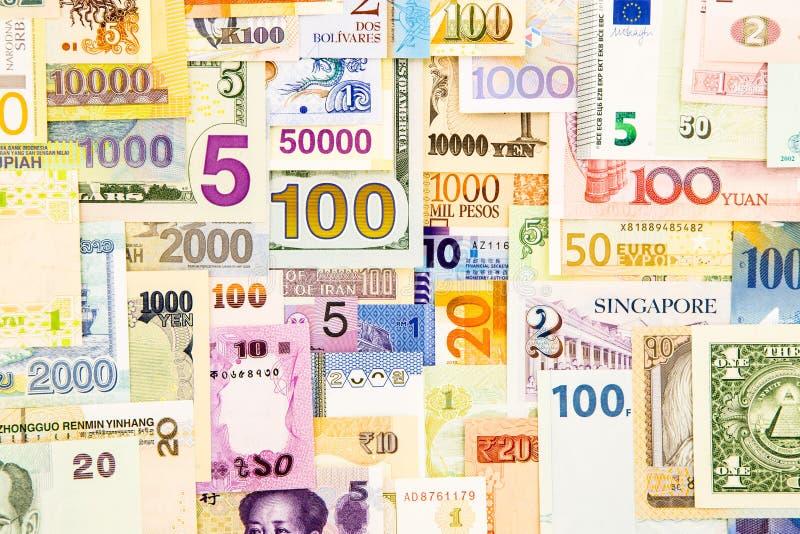 Sedelpengarkassa och valutapapper arkivfoton