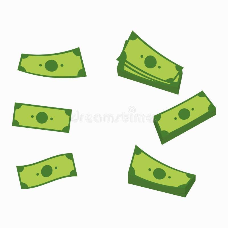 Sedeluppsättning pengar vektor illustrationer