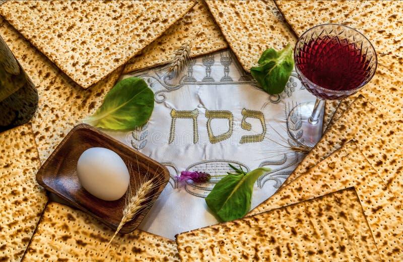 Основные свойства еврейских праздников Seder еврейской пасхи стоковое изображение rf