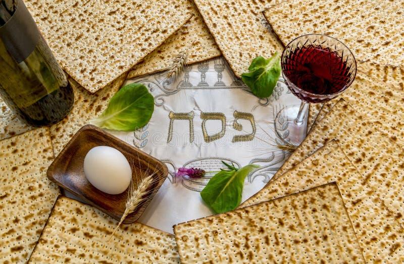 Основные свойства еврейских праздников Seder еврейской пасхи стоковая фотография rf