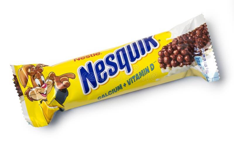 Sedere del cereale di Nestle Nesquik immagini stock libere da diritti