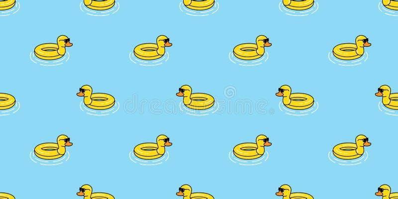 Sedere di nuoto delle mattonelle della carta da parati di ripetizione isolate sciarpa tropicale esotica di estate dell'uccello de illustrazione di stock