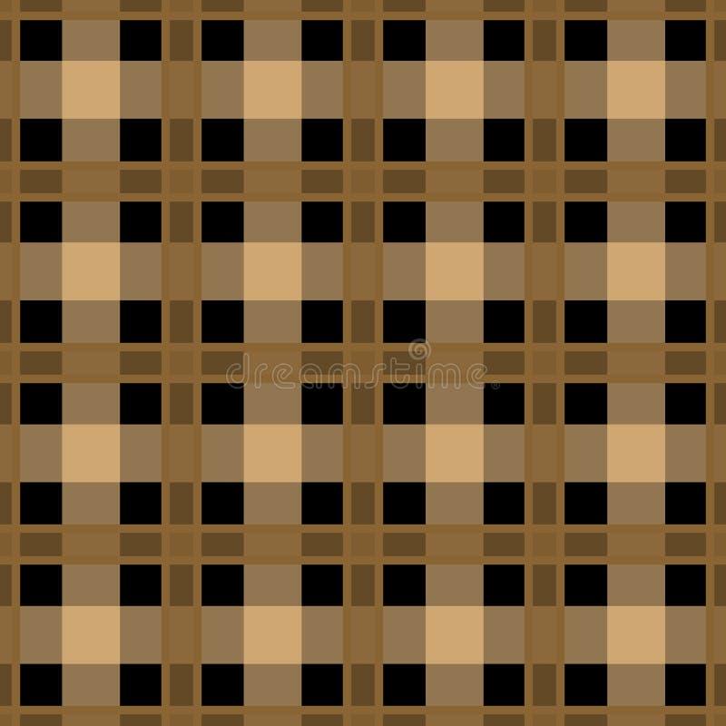 Sedere a quadretti del modello del plaid di struttura del tessuto di marrone senza cuciture del tartan illustrazione di stock