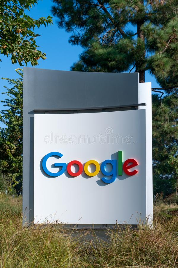 Sedi corporative e logo di Google fotografie stock libere da diritti