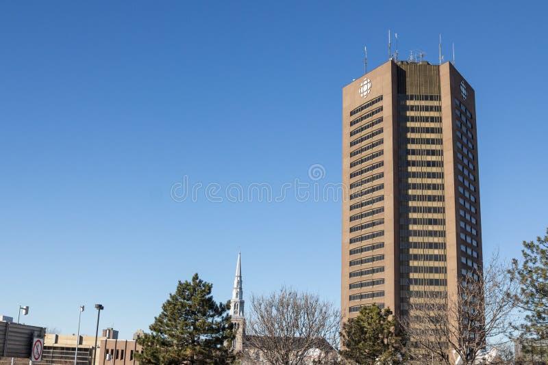 Sedi del CBC della Canadian Broadcasting Corporation per la Quebec a Montreal fotografie stock