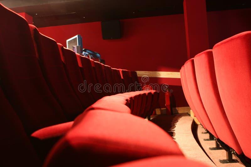 Sedi del cinematografo fotografie stock libere da diritti