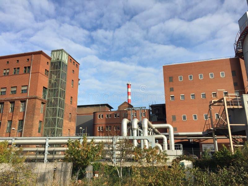 Sedi del fornitore di electricy di Vattenfall a Berlino immagine stock libera da diritti