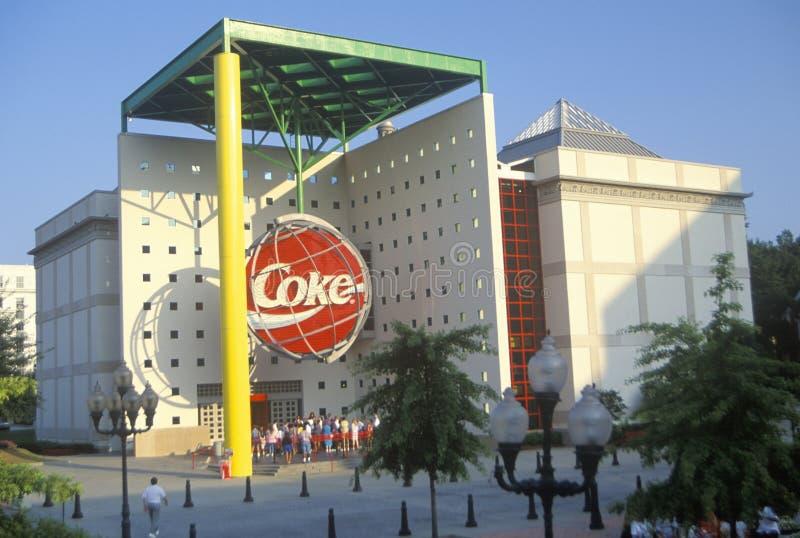 Sedi del mondo della coca-cola, Atlanta, GA immagine stock libera da diritti