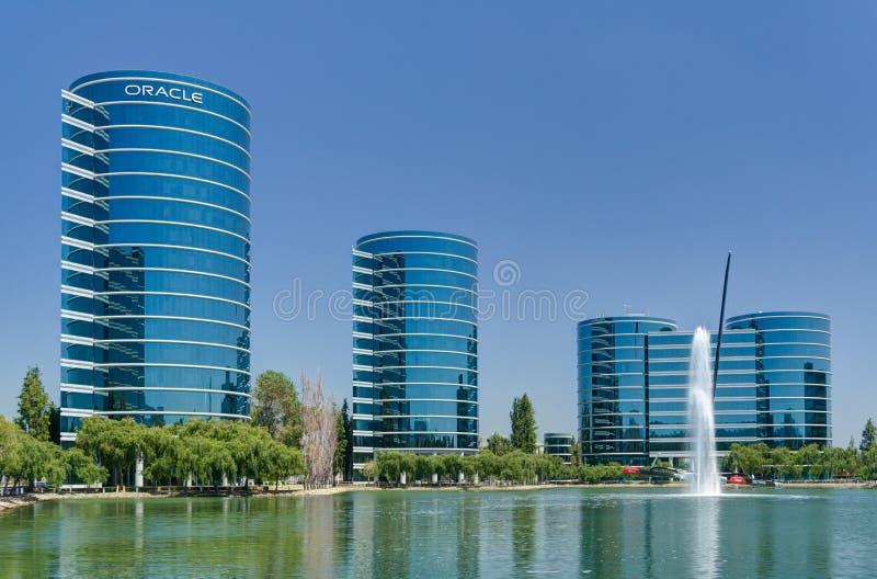 Sedi del mondo di Oracle Corporation fotografia stock