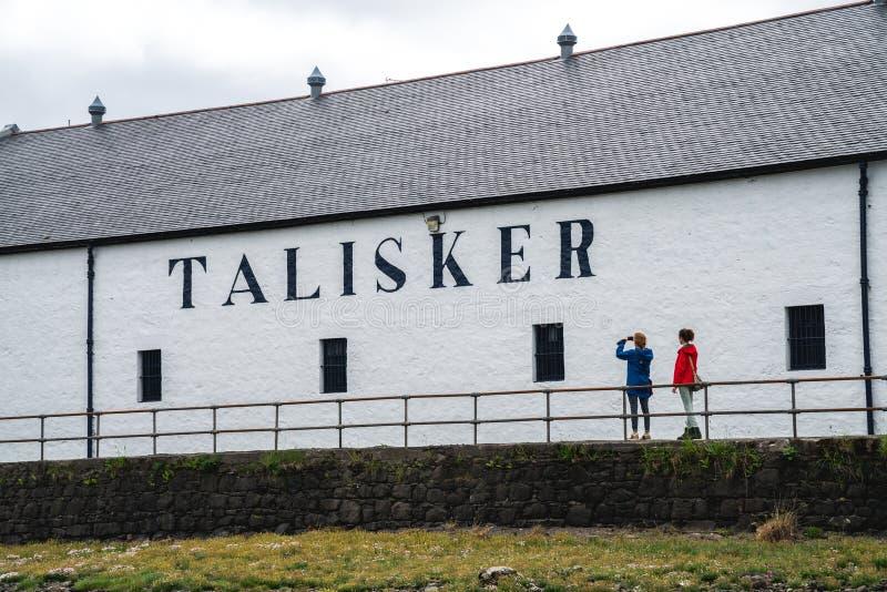 Sedi della distilleria di Talisker, Scozia, Regno Unito fotografia stock libera da diritti