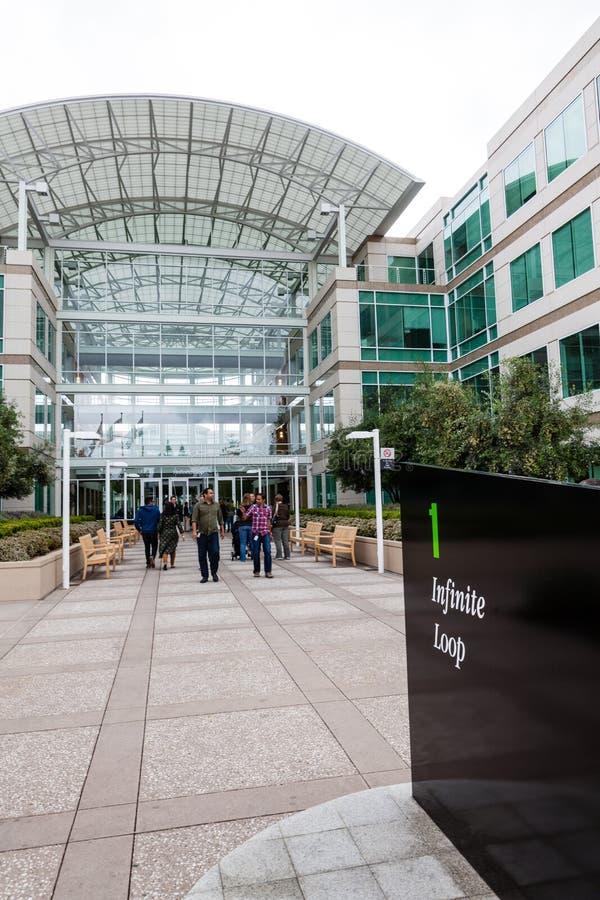 Sedi di Apple a Cupertino, California fotografia stock libera da diritti