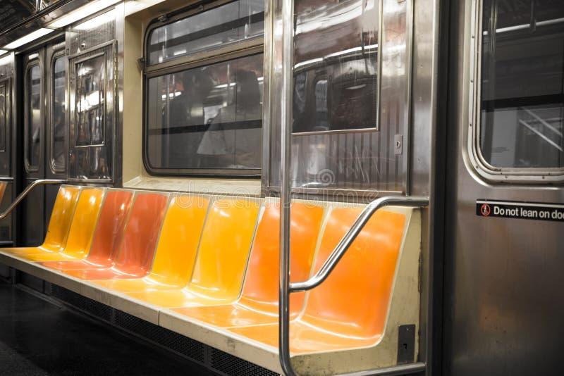 Sedi di automobile del metropolitana di new york fotografia stock