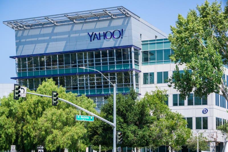 Sedi di Yahoo in Silicon Valley fotografia stock libera da diritti