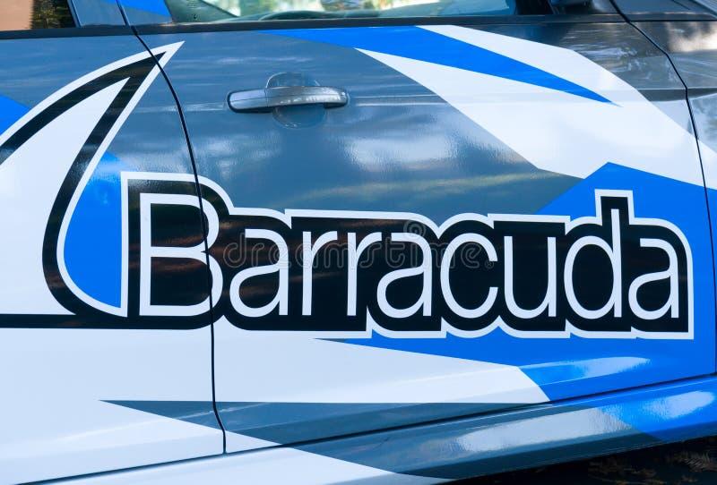 Sedi e logo delle reti del barracuda immagini stock
