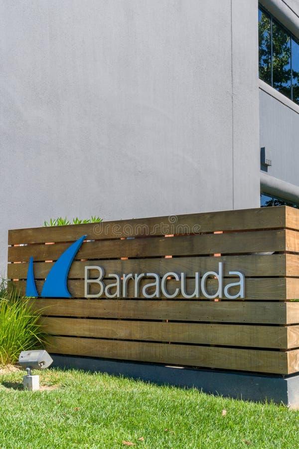 Sedi e logo delle reti del barracuda fotografia stock libera da diritti
