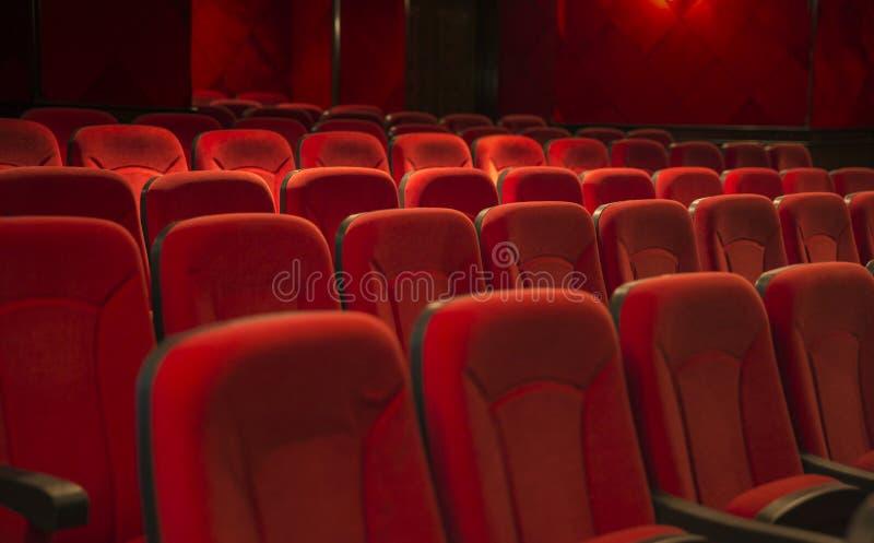 Sedi vuote del teatro fotografia stock