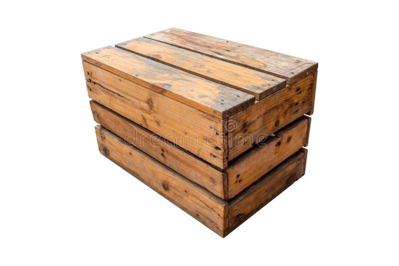 Sedia d'annata fatta dalla cassa di legno adatta a decorazione immagine stock