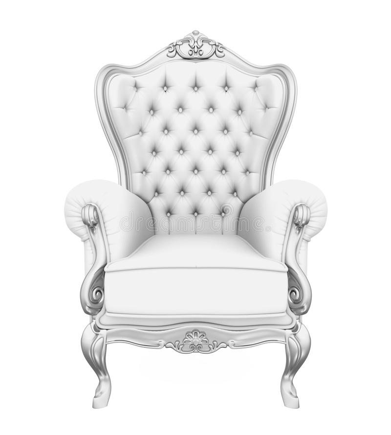 Sedia del trono isolata illustrazione vettoriale