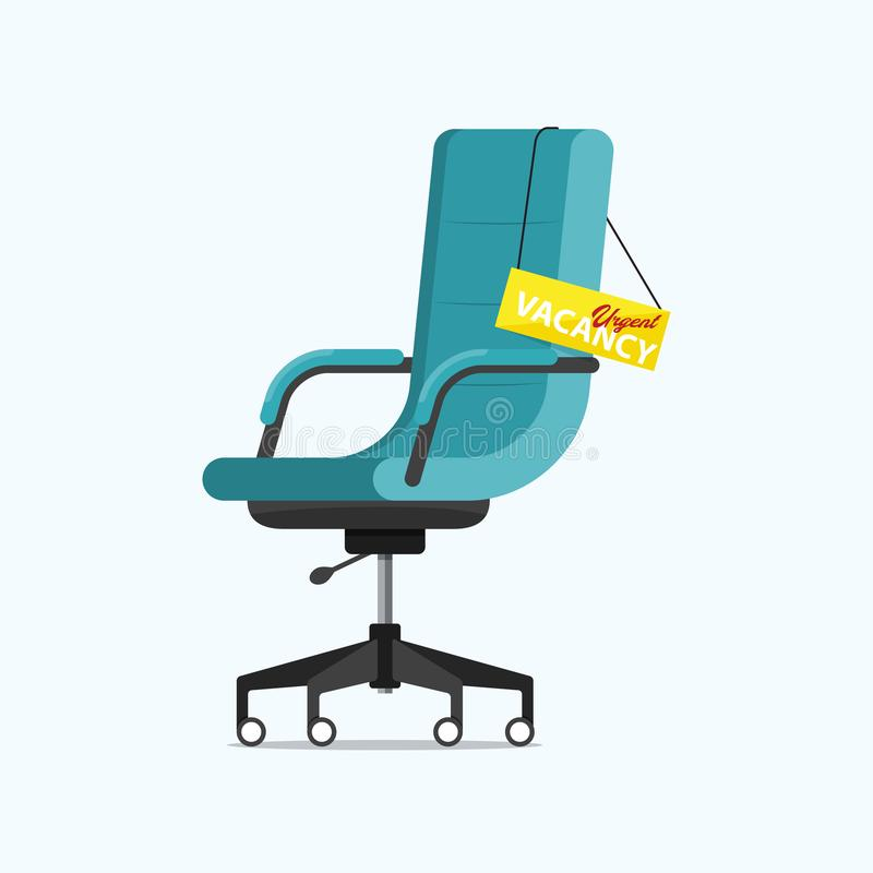 Offerte Sedie Per Ufficio.Sedia Dell Ufficio E Un Segno Libero Con Il Messaggio Urgente Di