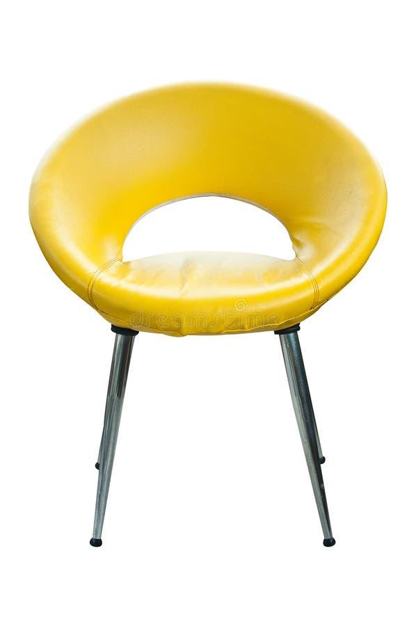 Sedia di cuoio di stile moderno isolata. immagine stock