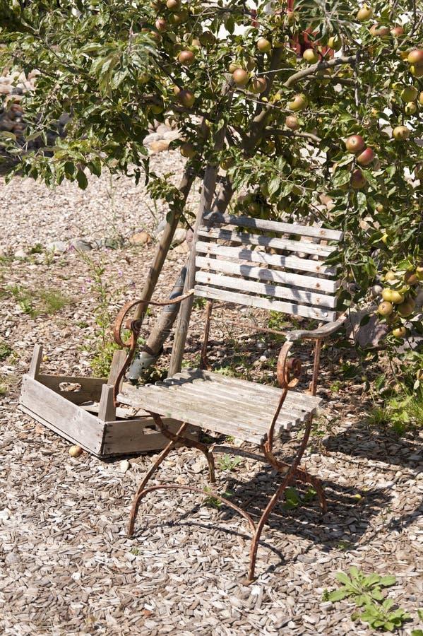 Sedia di giardino immagini stock