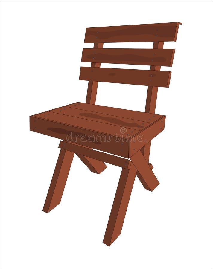Sedia di legno illustrazione vettoriale