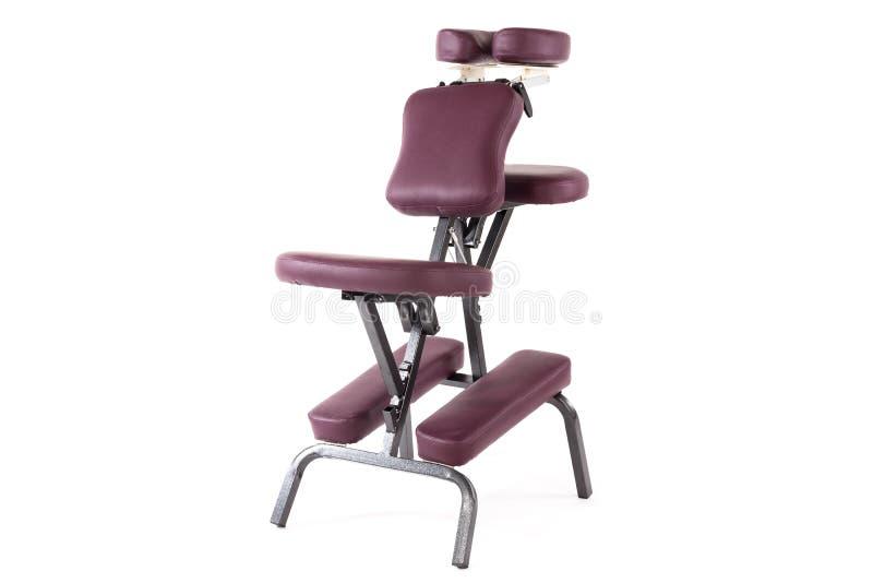 Sedia di massaggio su bianco immagine stock libera da diritti