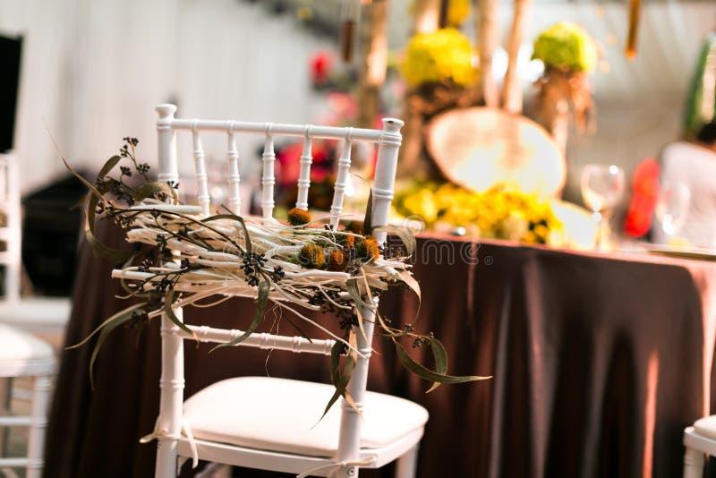 Sedia di nozze fotografie stock