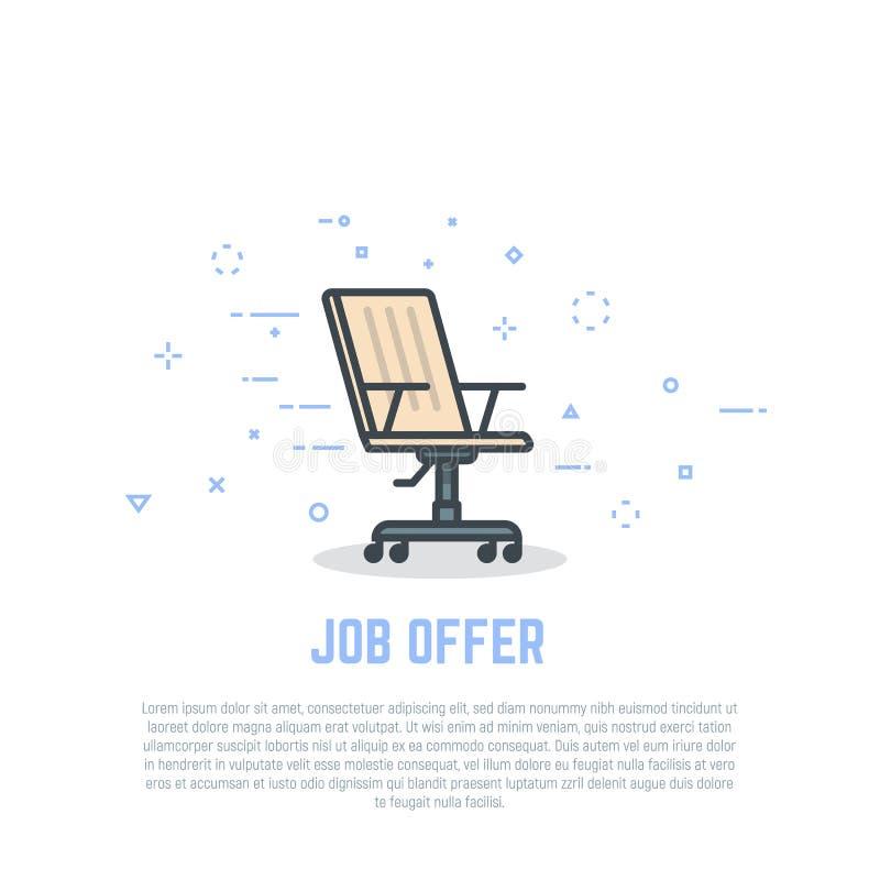 Sedia e offerta di lavoro illustrazione di stock